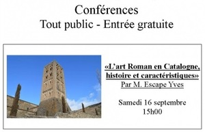 Journées du patrimoine: «L'art Roman en Catalogne, histoire et caractéristiques»  (2017)
