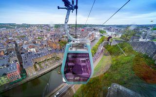 Namur : Survoler la capitale wallonne en téléphérique