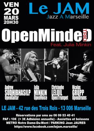 Christophe LeLoiL OpenMindeD Trio Feat Julia Minkin (2020)