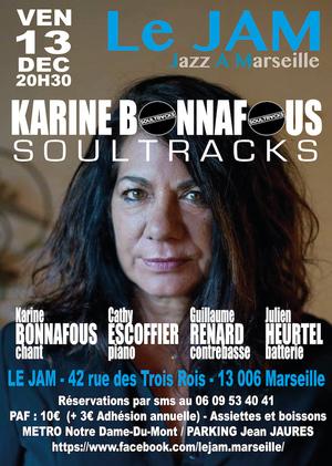 Karine Bonnafous Quartet - Soultracks (2019)