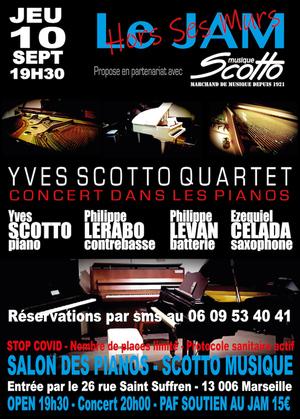 Yves Scotto Quartet - Concert Dans les Pianos (2020)