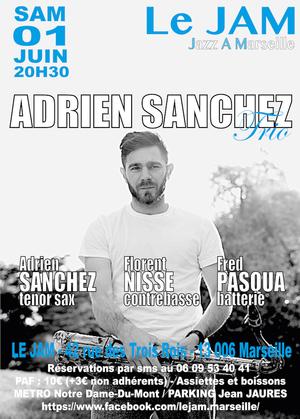 Adrien Sanchez Trio Feat Florent Nisse & Fred Pasqua (2019)