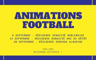 Permanence en Pieds d'Immeubles - Animations Football