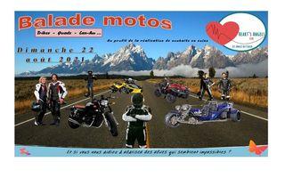 Balade motos (etc...) au profit de la réalisation de souhaits