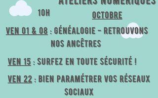Ateliers numériques octobre - tout public
