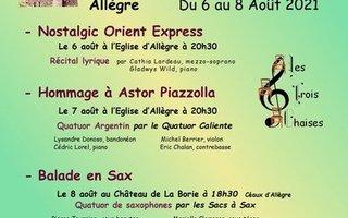 """festival """" Les trois chaises"""""""