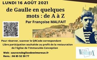 """""""De Gaulle, en quelques mots, de A à Z"""" par Françoise Malfait"""