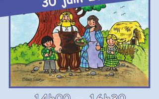 """Fête des familles : inauguration de notre nouveau livre jeunesse """"Un jour au village celte"""""""