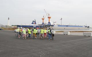 A vélo sur le port