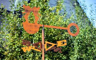 D'où vient le vent : exposition de girouettes-sculptures