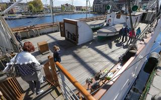 Visite des bateaux : Duchesse Anne et Sandettié