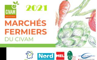 Marchés fermiers du CIVAM 2021au relai nature du Parc de la Deûle (Santes)