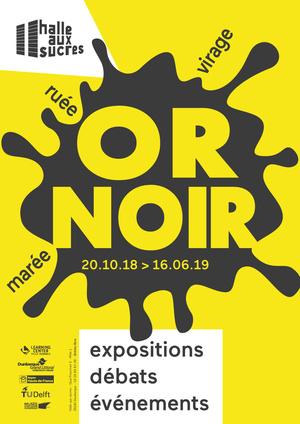 expo or noir affiche